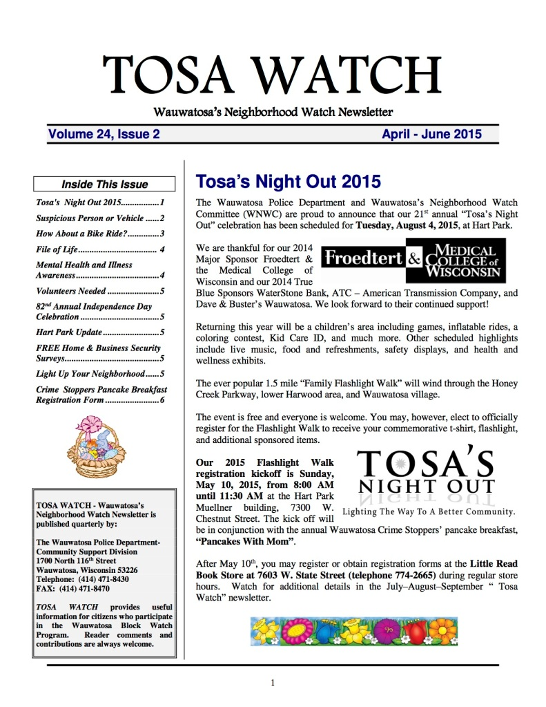 TosaWatchApril-June2015