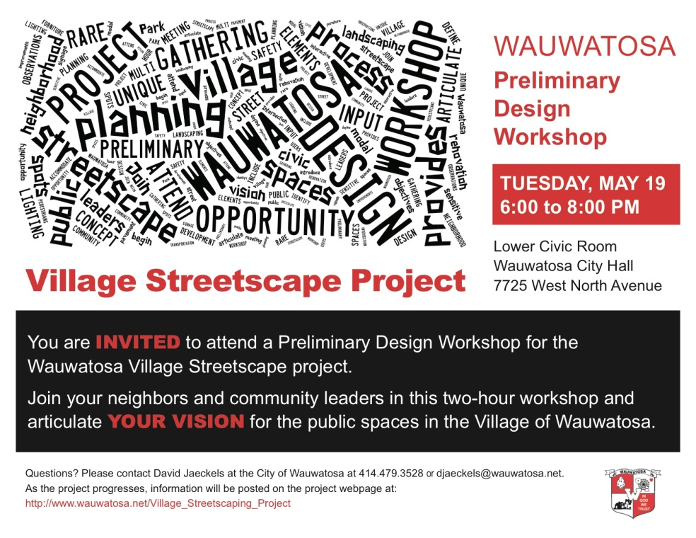 YOU ARE INVITED - Wauwatosa Streetscape Workshop